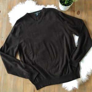 J. CREW 100% Italian Merino Wool V-Neck Sweater XL